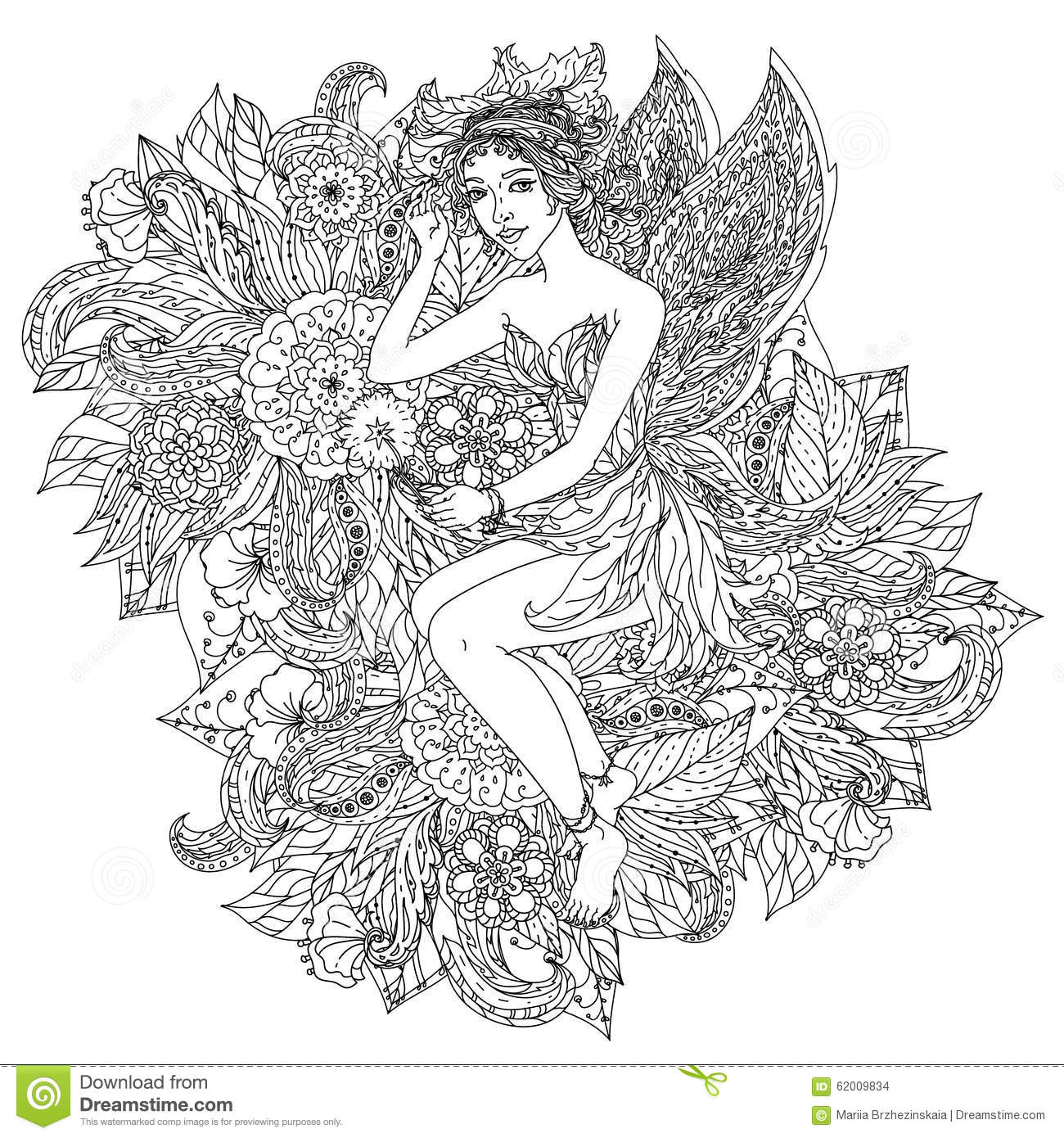 Fairy or elf stock vector. Image of graphic, abstract