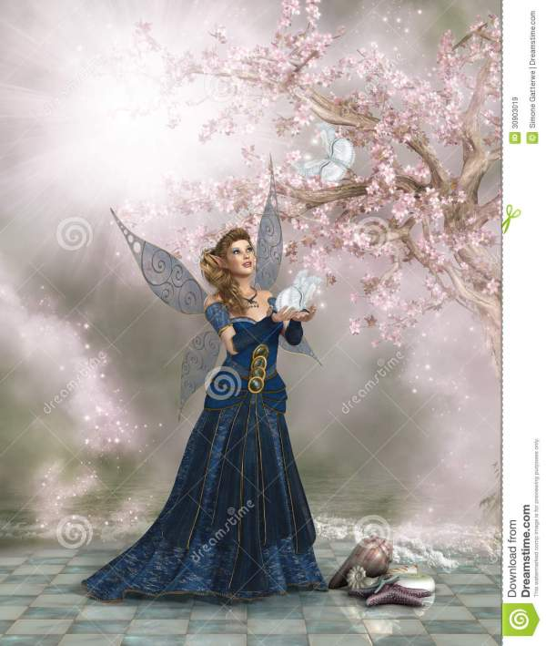 Fairy Holding a Butterfly