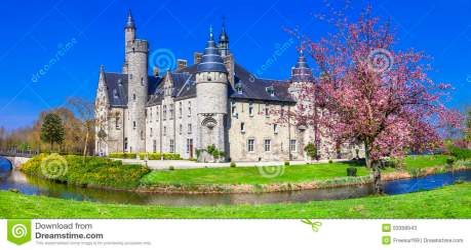 Fairytale Castle Belgium Marnix Stock Image Image of history gothic: 53358943