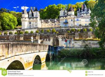 Fairytale Castle Usse Beautiful Castles Of Loire Valley In Franc Stock Image Image of culture attraction: 93061753