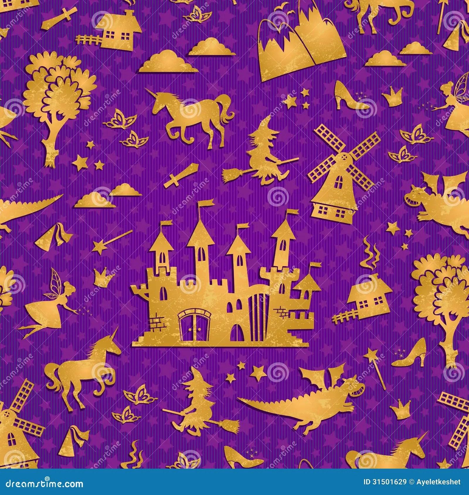 Fairytale Pattern Stock Vector Illustration Of Purple