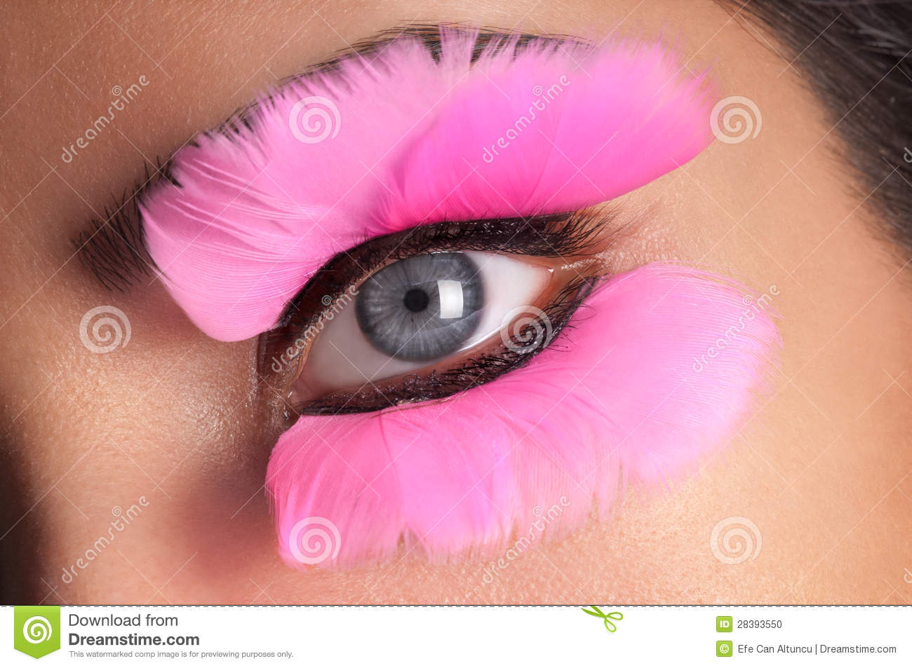 Fake Eyelashes stock photo Image of woman fashion girl