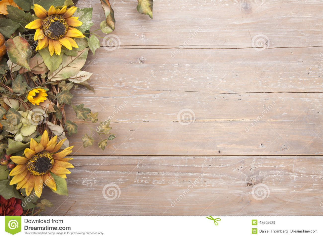 Fall Computer Wallpaper Images Fall Border With Sunflowers Stock Photo Image 42605629