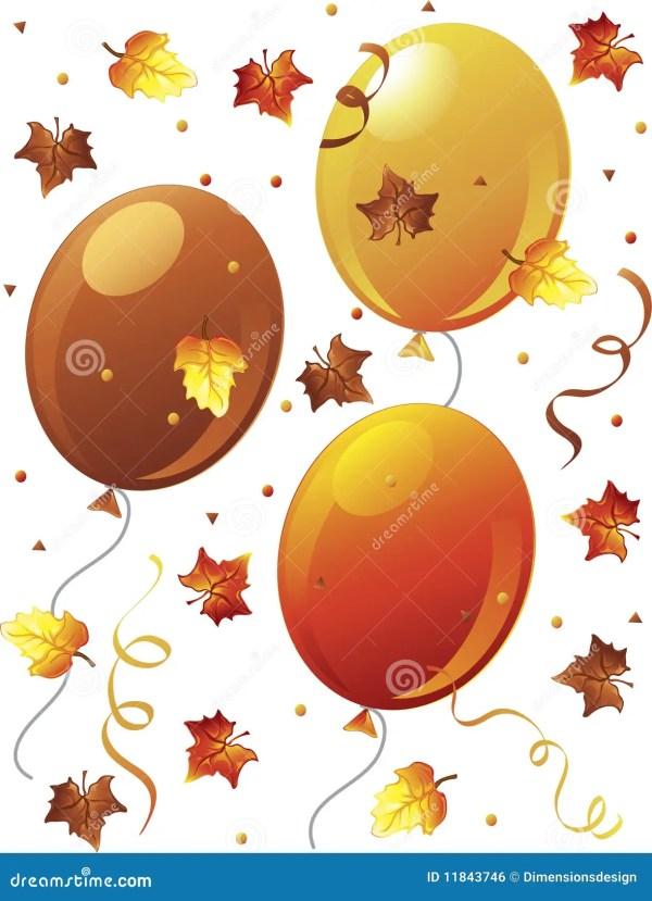 fall confetti stock illustration