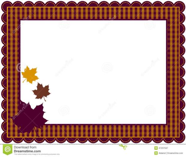 Fall Color Borders and Frames