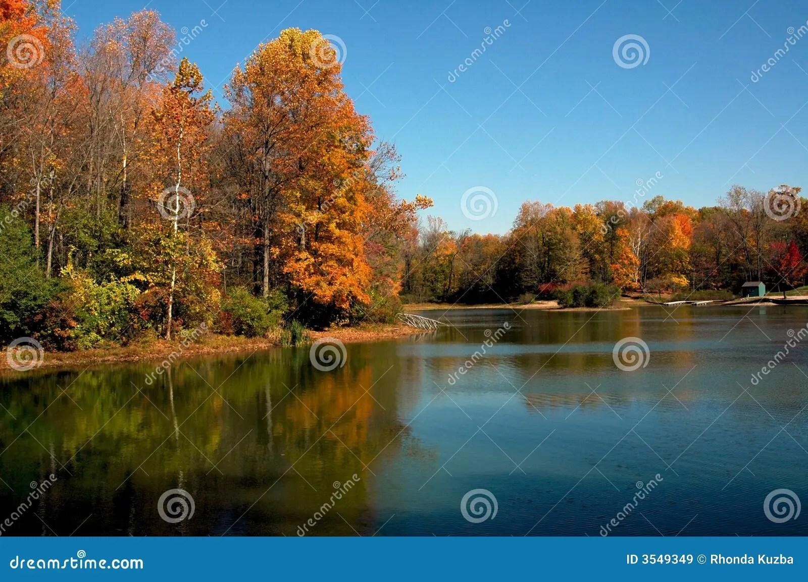 Fall Lake Scene Royalty Free Stock Images  Image 3549349
