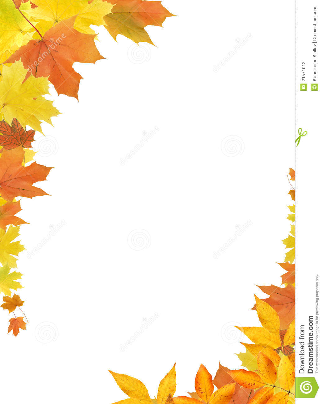 Fall Leaves Border Clip Art Coloring Pages L