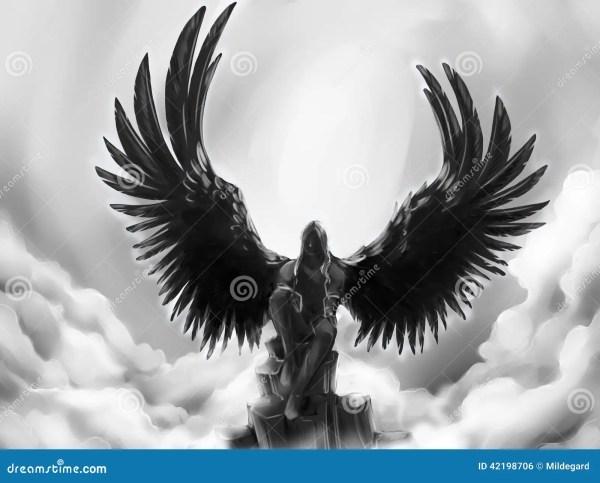 Fallen Angel Stock Illustration. Illustration Of Artwork