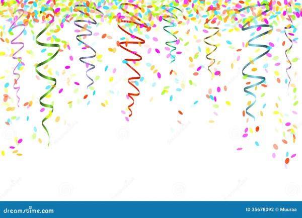 falling confetti stock vector