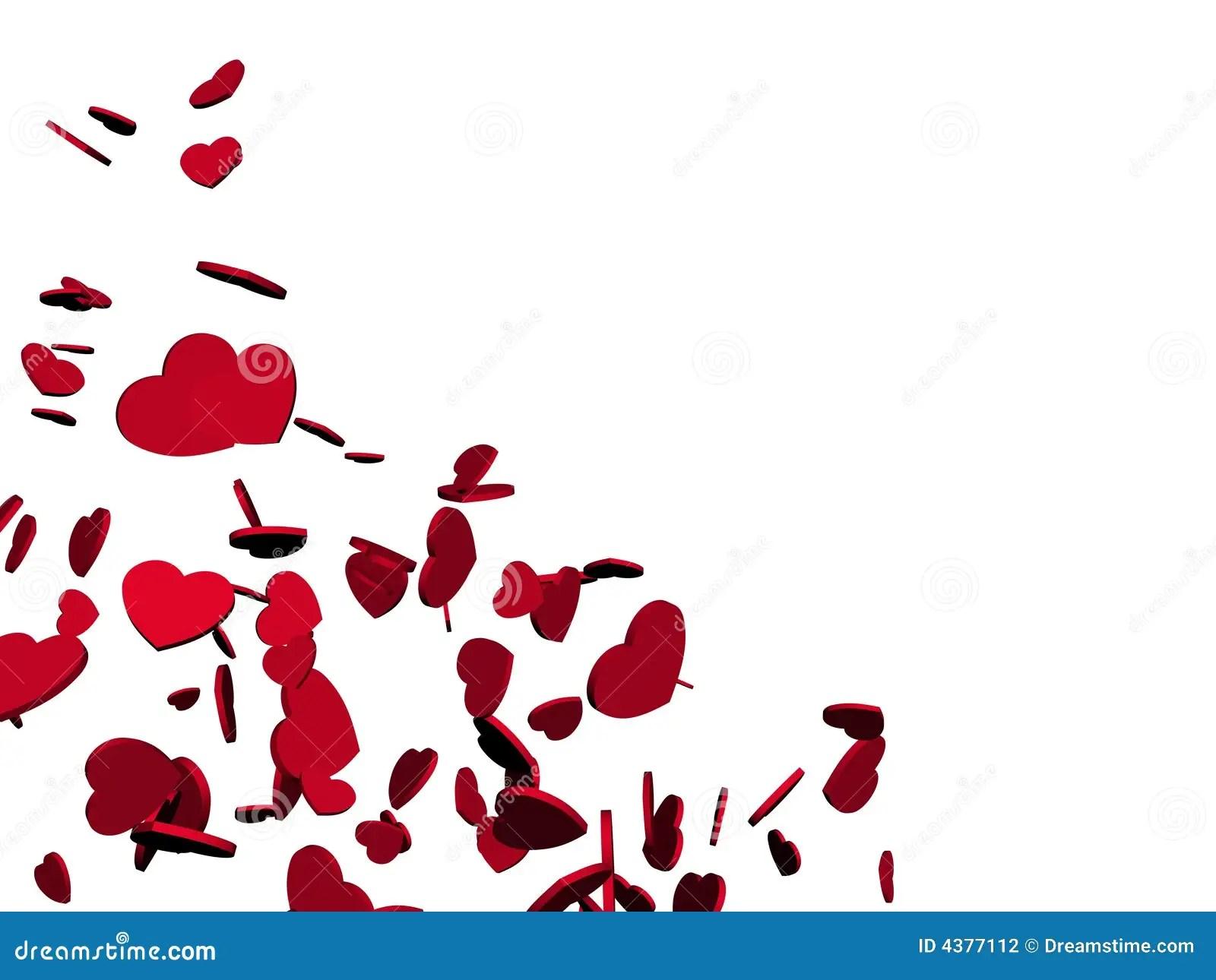 Falling Hearts Stock Illustration Illustration Of Pattern