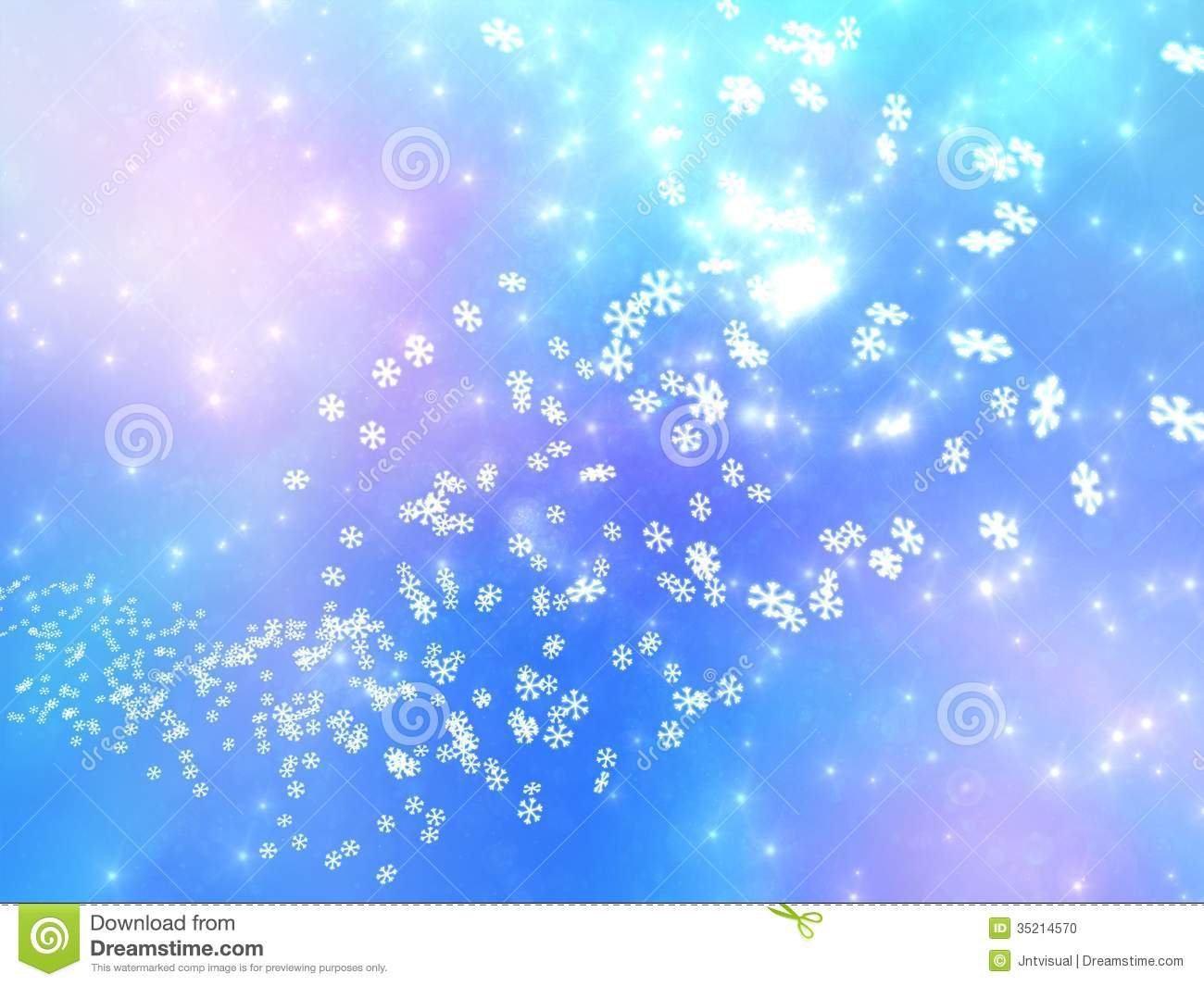 Real Snowflakes Falling Wallpaper Falling Snowflakes On A Pink And Blue Background Stock