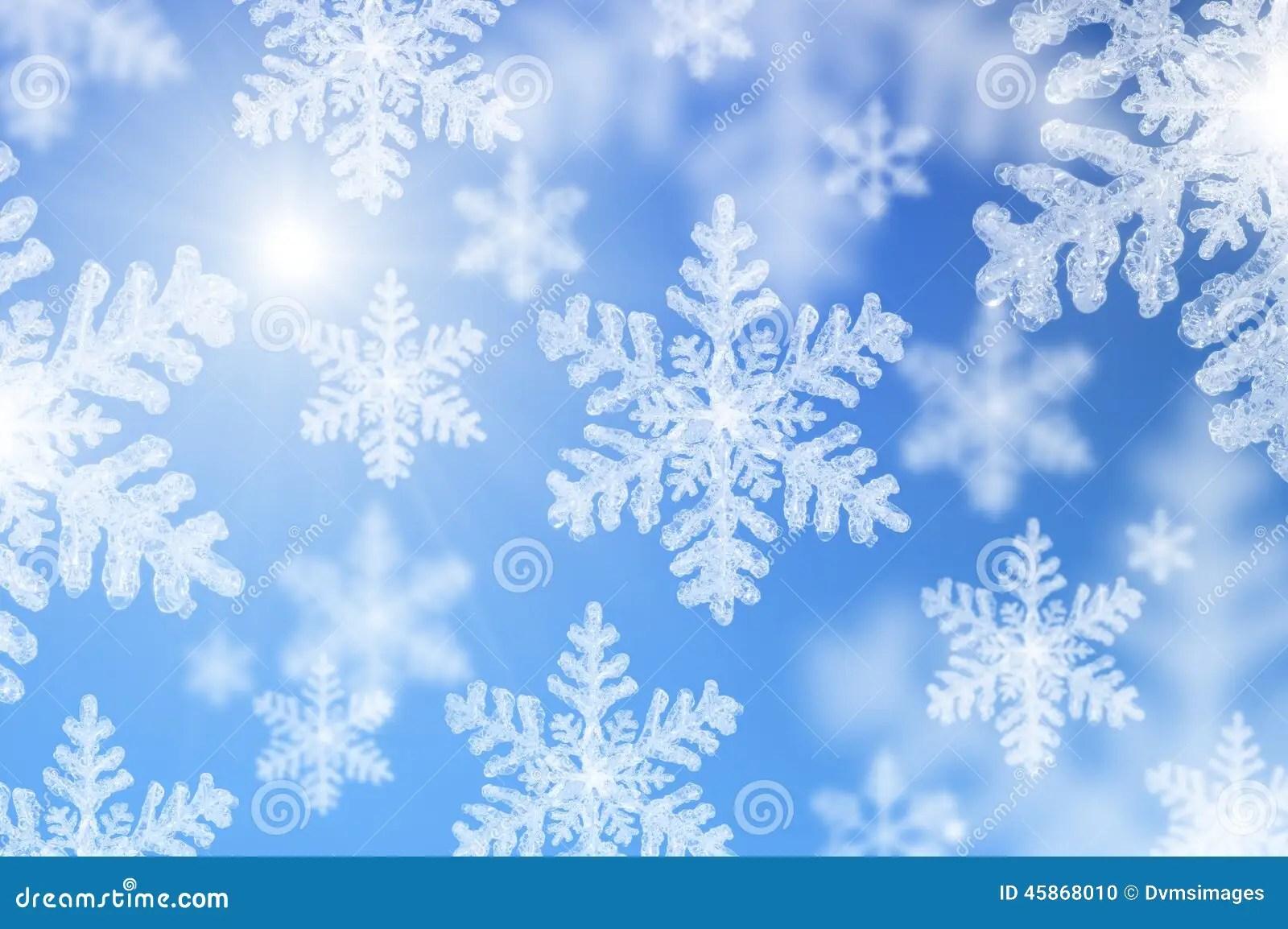 Snow Falling Background Wallpaper Falling Snowflakes Stock Photo Image 45868010