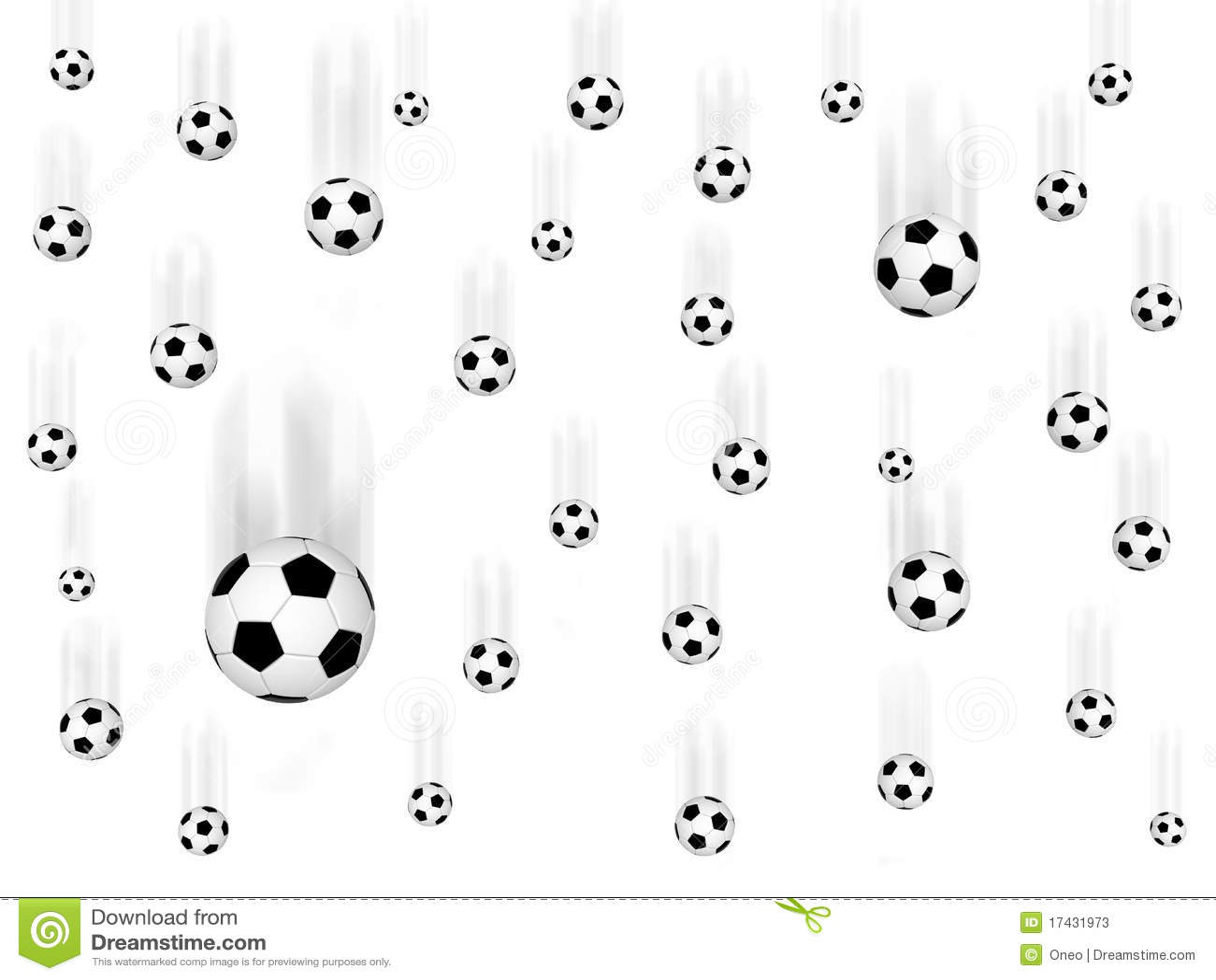 Falling Soccer Balls Royalty Free Illustration