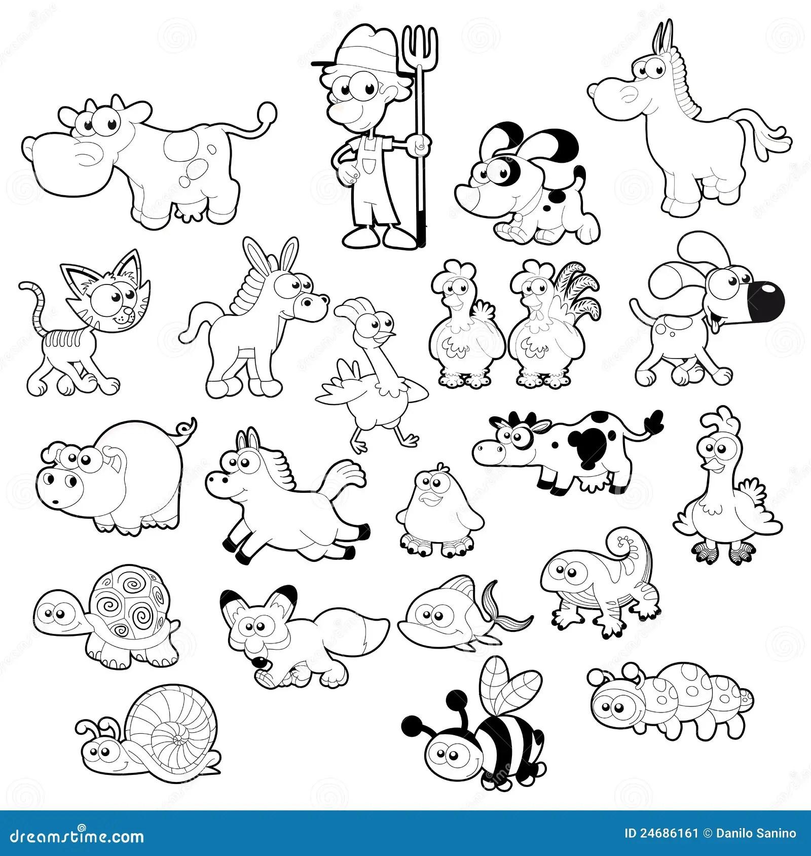 Famille D Animal De Ferme Illustration De Vecteur