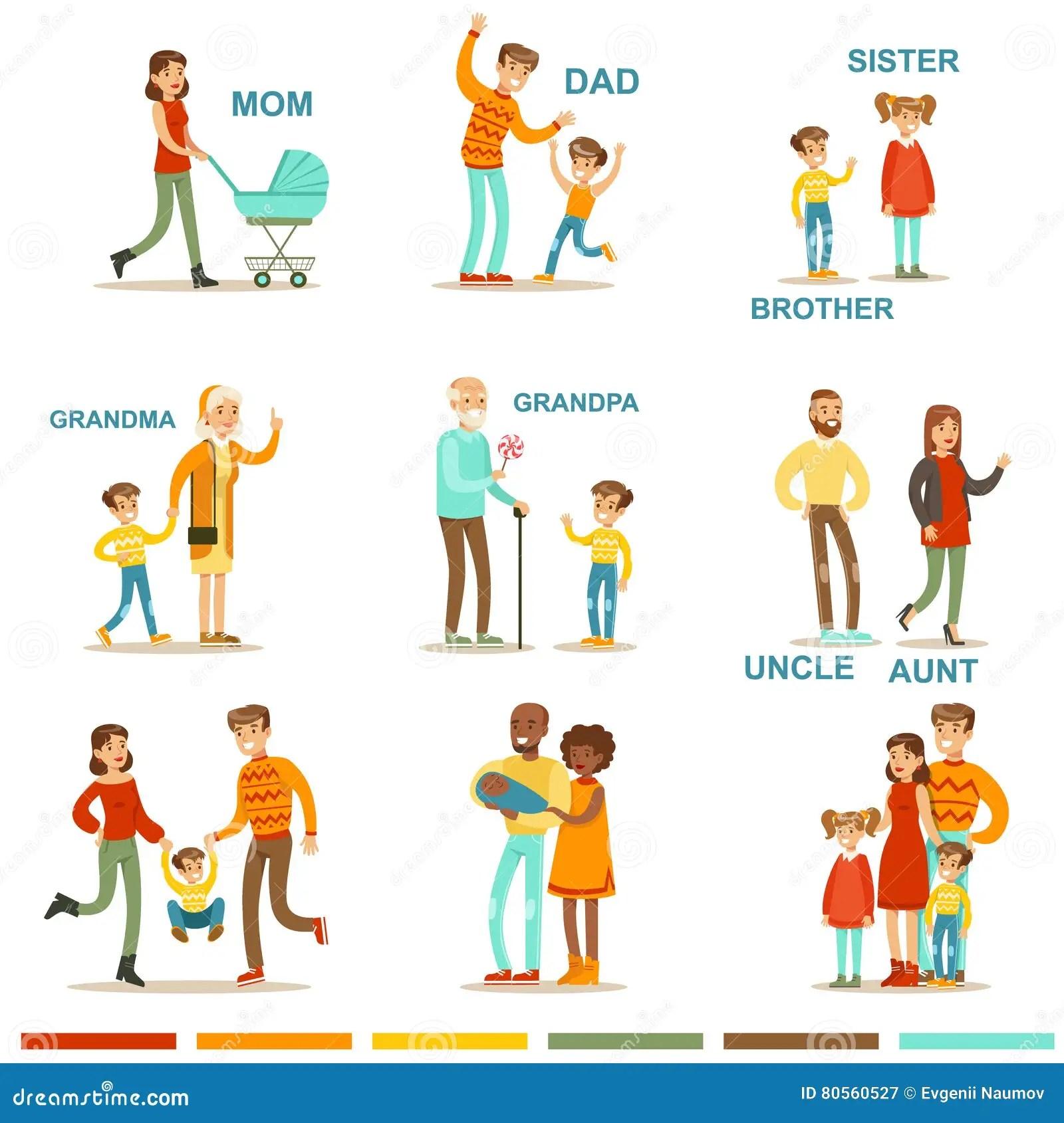 Famille Nombreuse Heureuse Avec Tous Les Parents Se