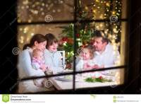 Family at Christmas dinner stock image. Image of holiday ...