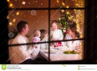 Family At Christmas Dinner Stock Photo - Image: 44886436