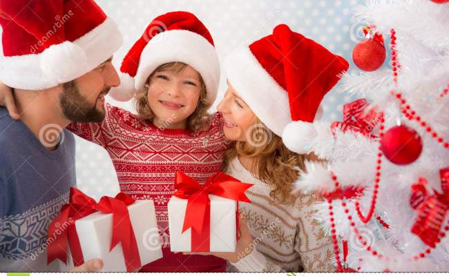 Family With Christmas Gifts Stock Photo Image 61332474