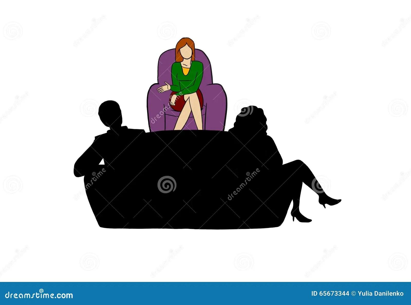 Family Counseling Stock Illustration Illustration Of