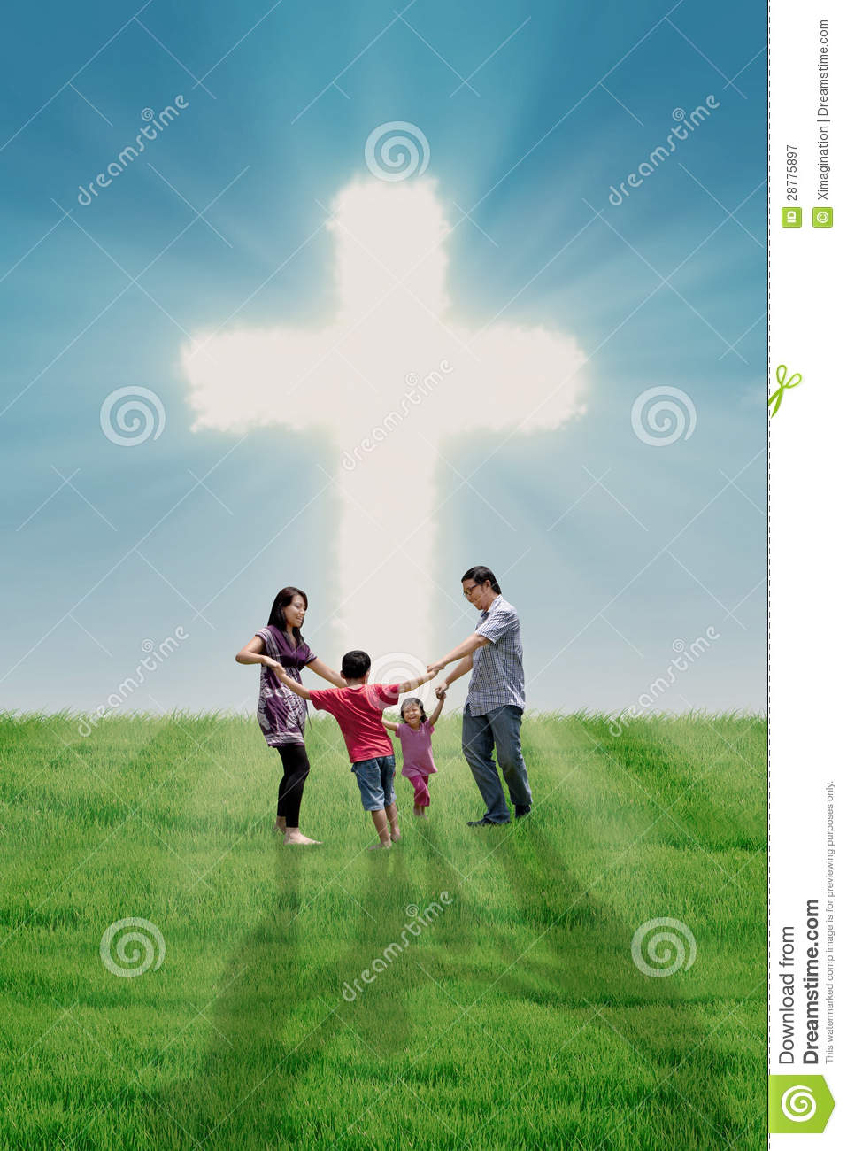 Family Dance At The Cross Royalty Free Stock Photography