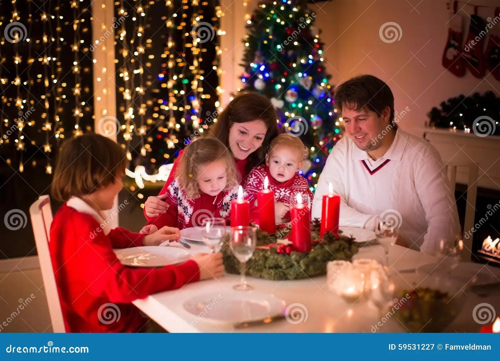 Family Enjoying Christmas Dinner At Home Stock Image  Image 59531227
