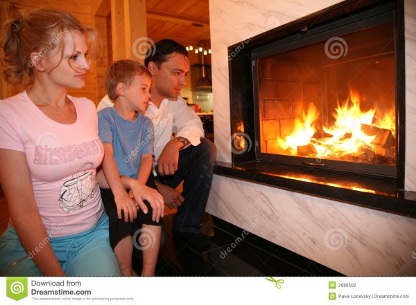 Family And Fireplace Stock - 2686502