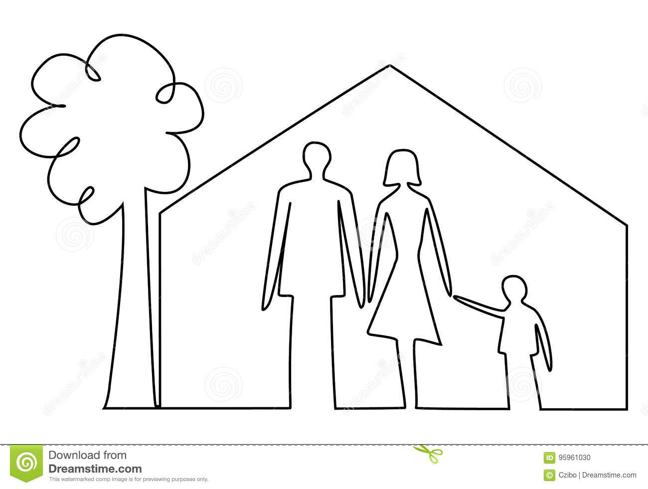 Family Home Security Stock Vector Illustration Of Safety