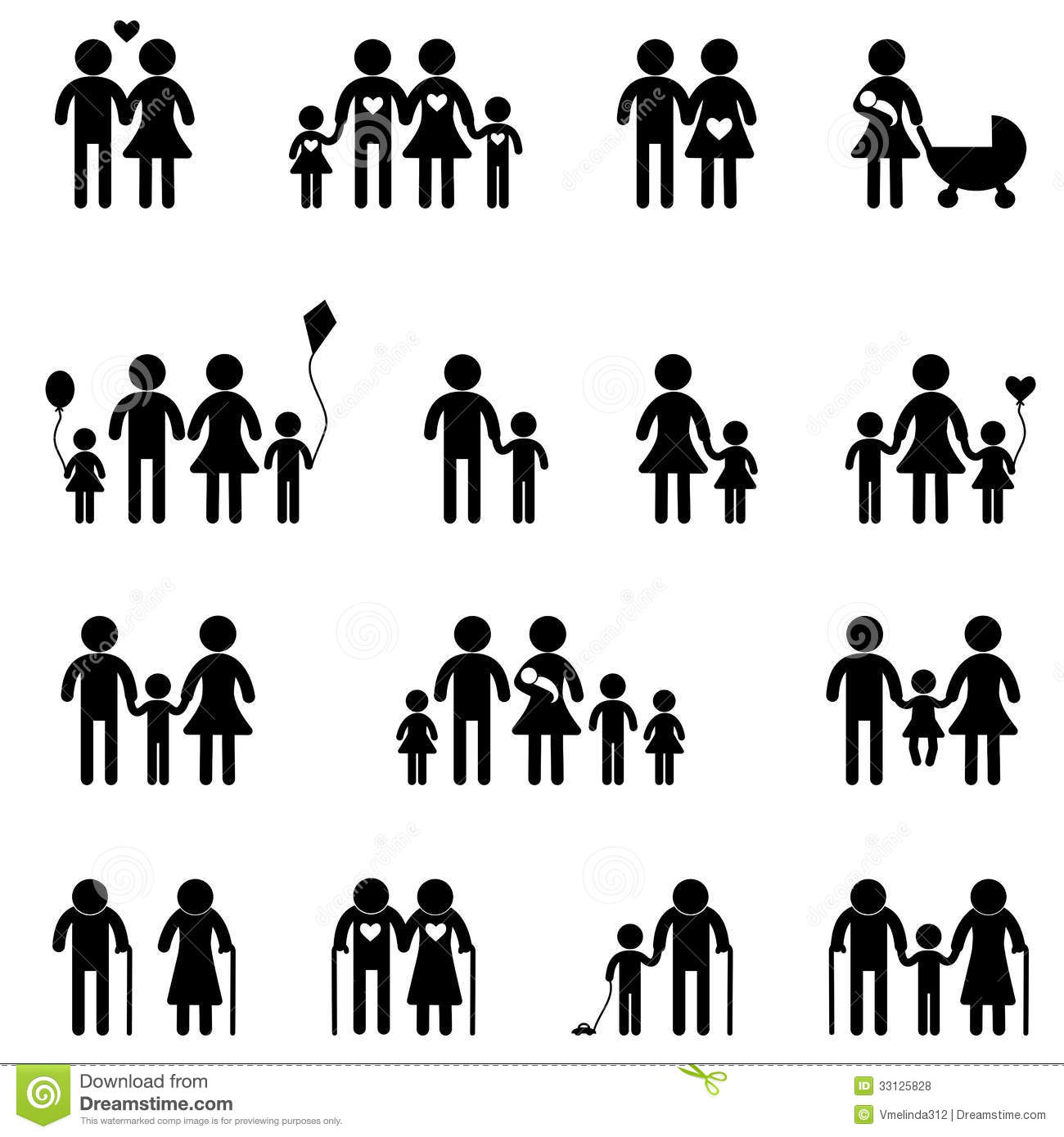 Family Icon Set Stock Vector Illustration Of Mother