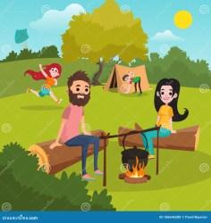 near tent park che het met fire boy ouders accampano genitori mette famiglia gioca parco tenda ragazza cervo volante ragazzo