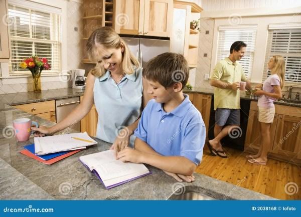 Families Doing Homework