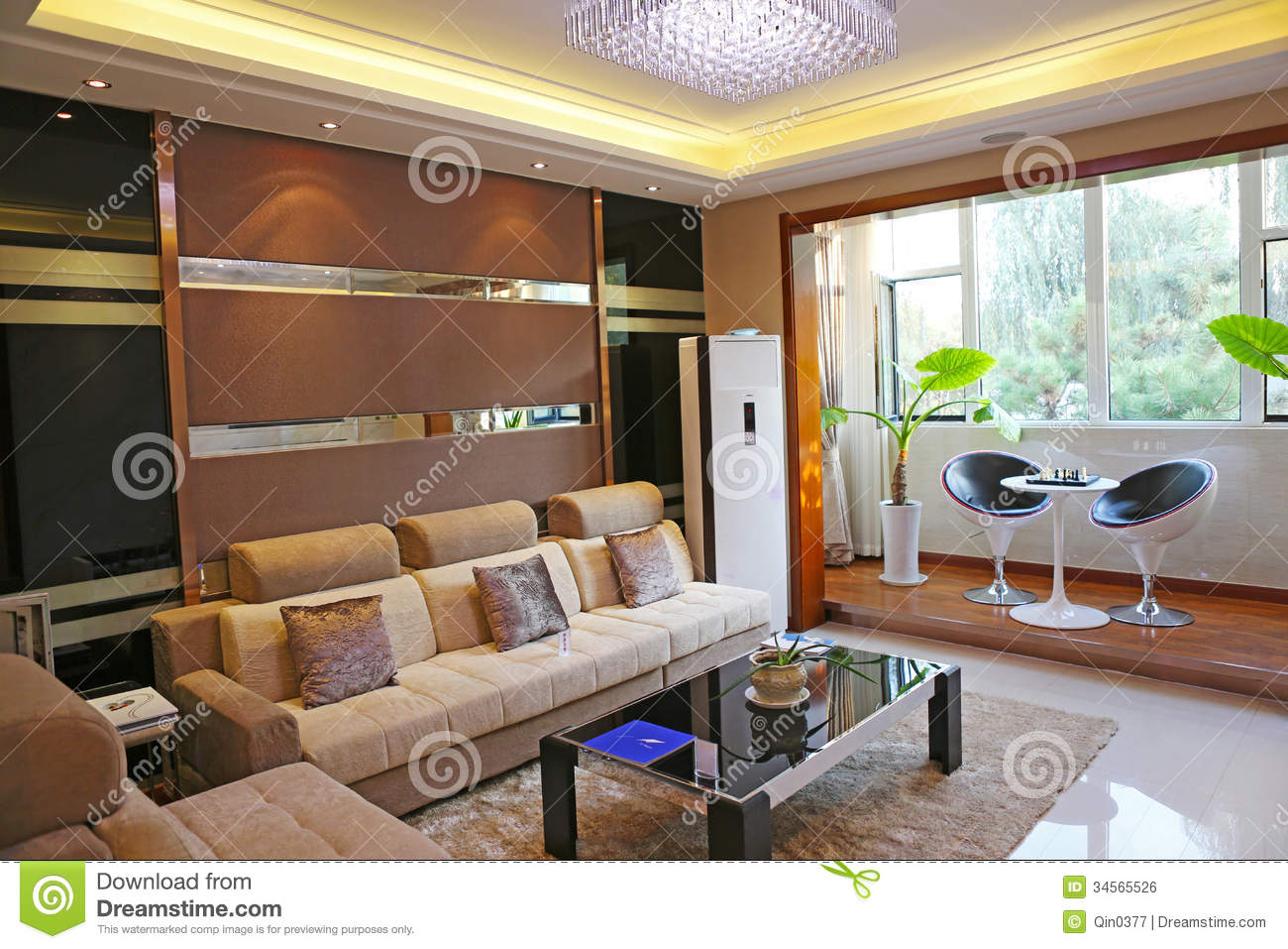 modern table for living room green paint family royalty free stock image - image: 34565526