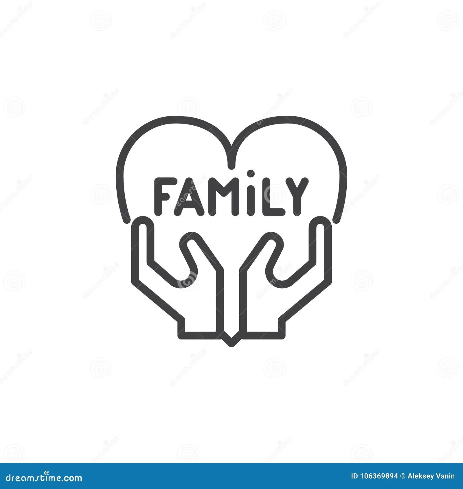 family love line icon