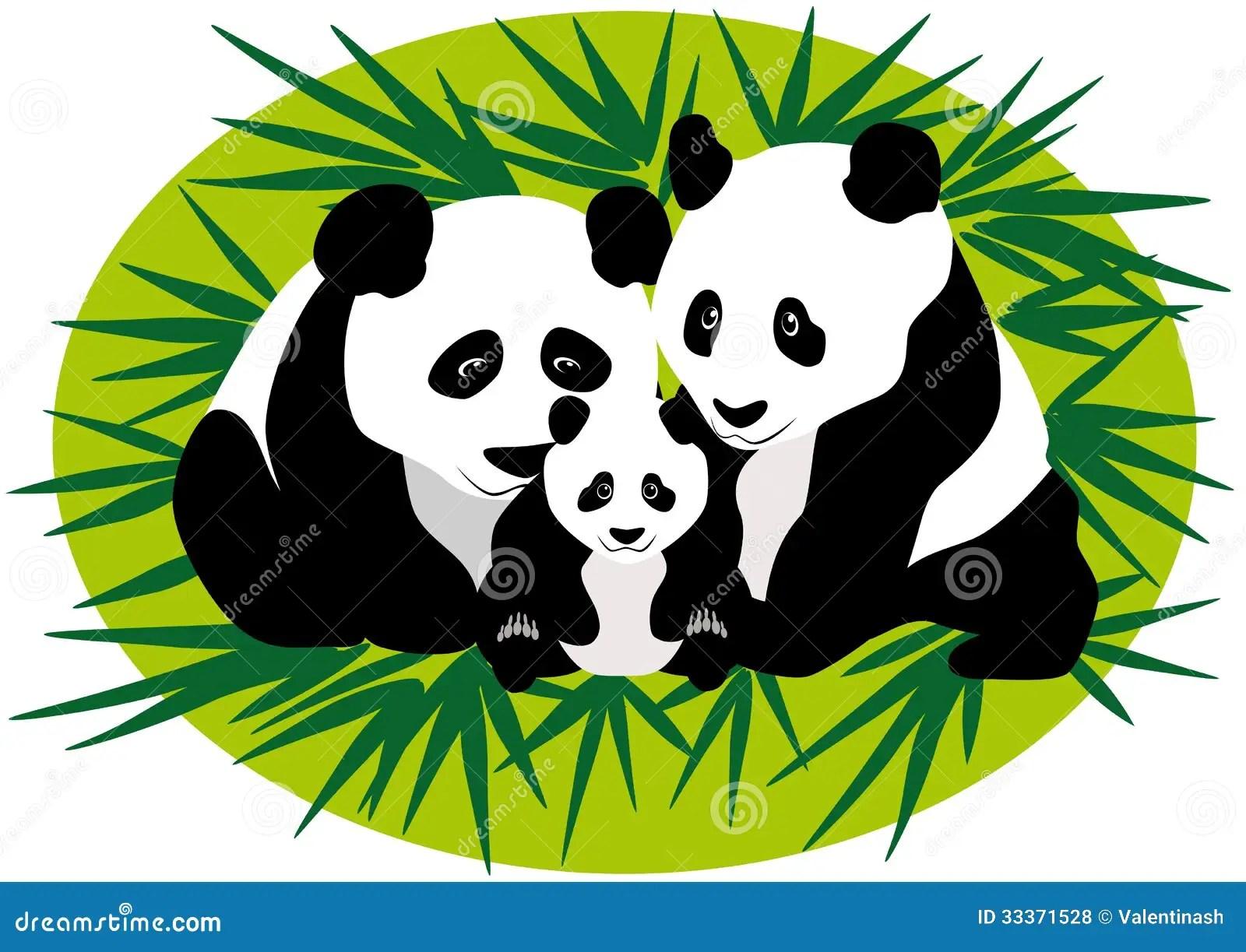 Cute Baby Bears Wallpaper Family Panda Bears Stock Vector Illustration Of Love