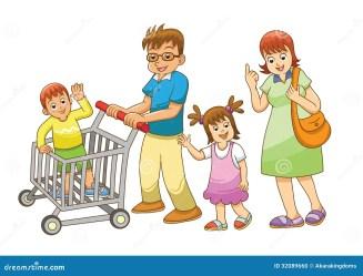 shopping cartoon clipart department stores vector clip illustration