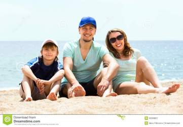 vacation son middle class happy seaside