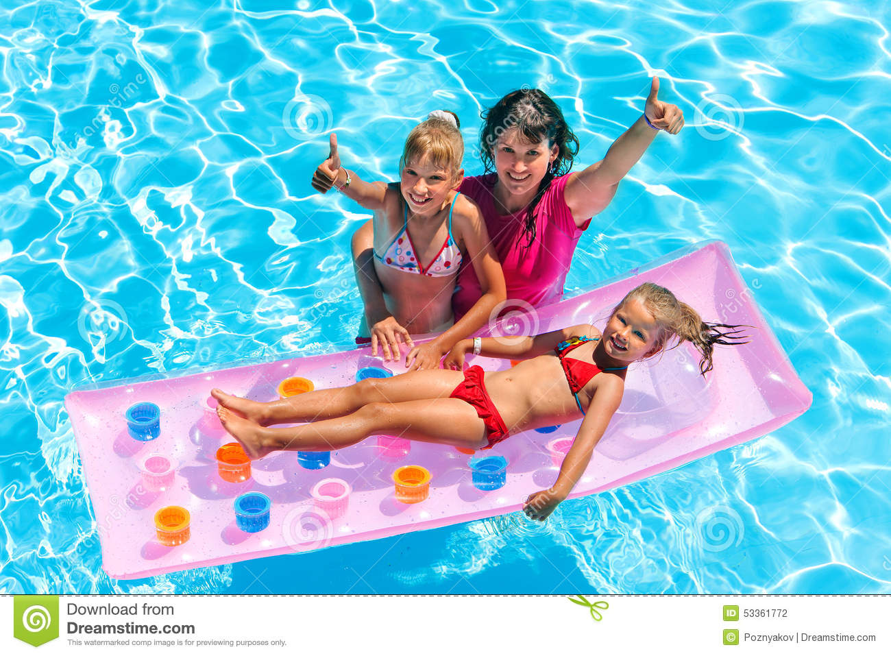 Family in swimming pool stock photo Image of nature  53361772