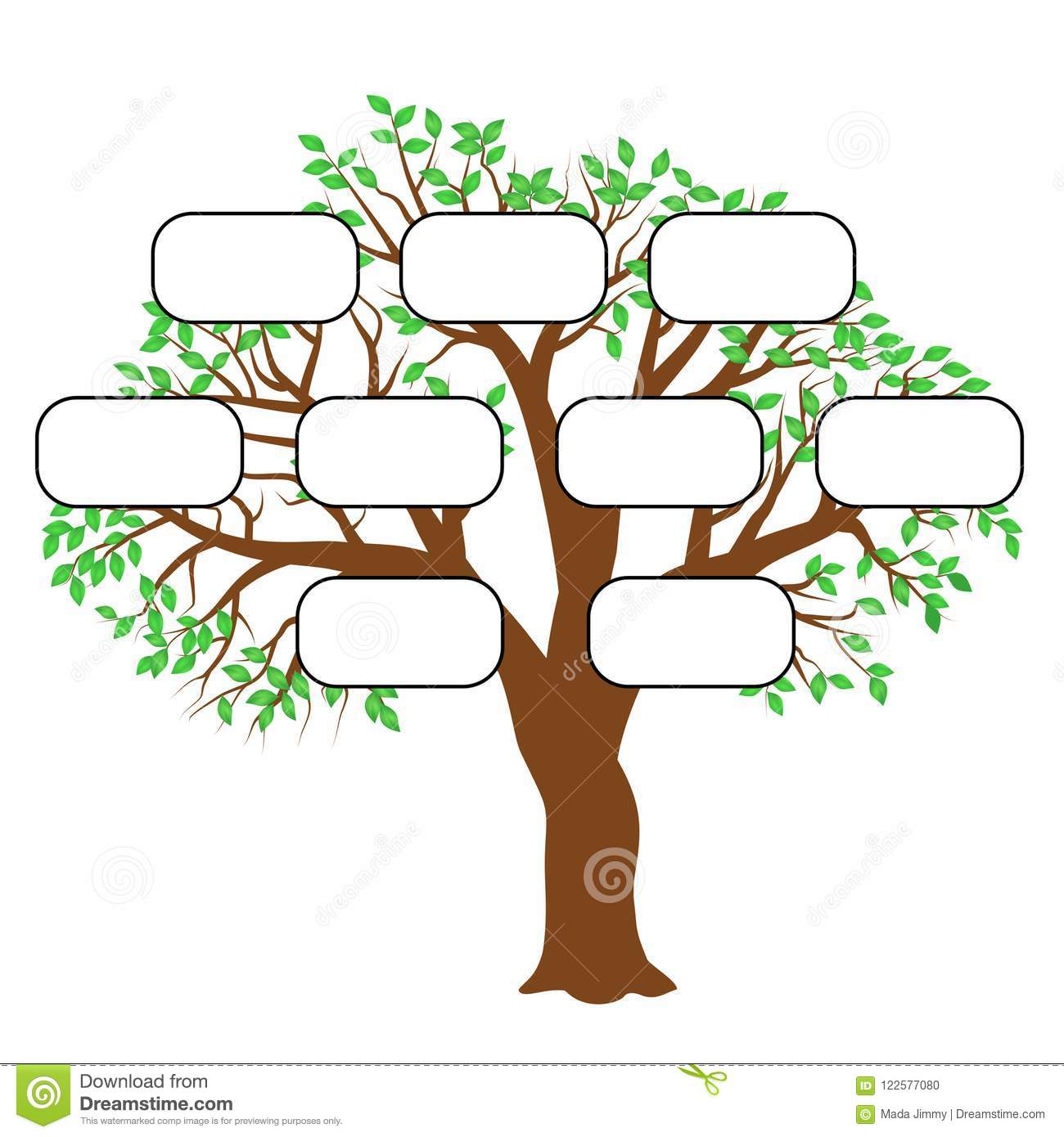 Family Tree Concept Illustration Vector Stock Photo