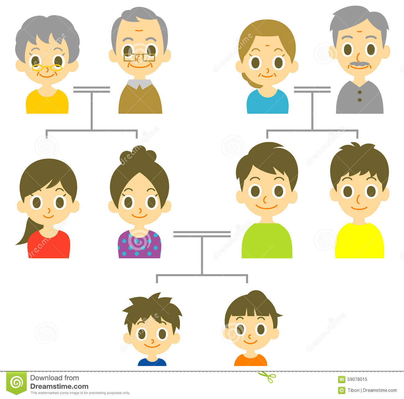 Family Tree Stock Vector Illustration Of Face Couple