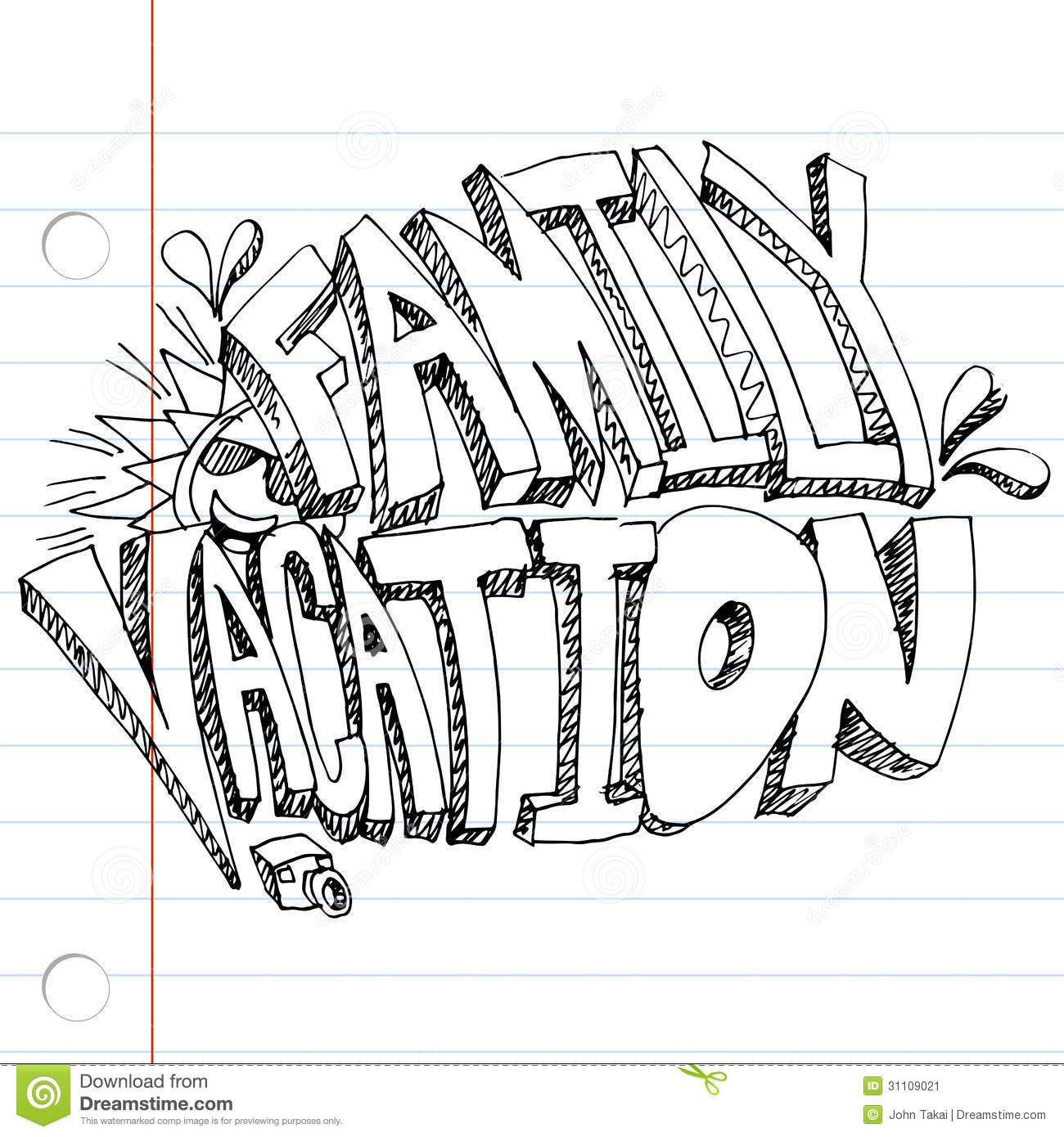 Family Vacation Drawing Stock Vector Illustration Of Clip