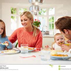 Monkey High Chair White Adirondack Chairs Family With Young Baby Eating Meal At Home Stock Photo - Image Of Chair, Women: 36608906