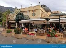 Famous Cafe De Paris In Monte Carlo Monaco Editorial