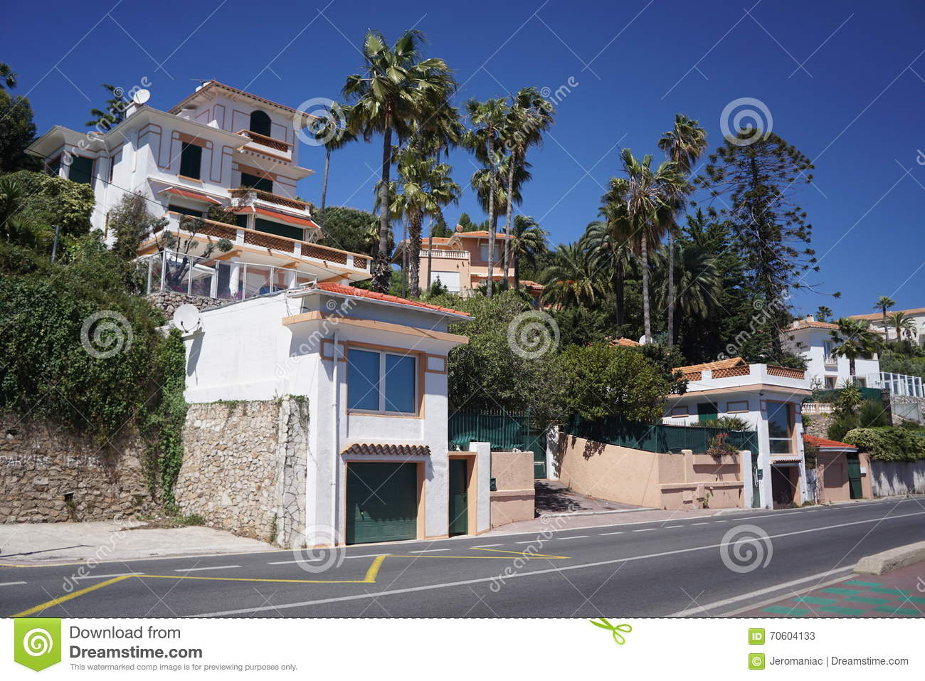 The Famous Villa Helios At Cannes France Editorial Stock