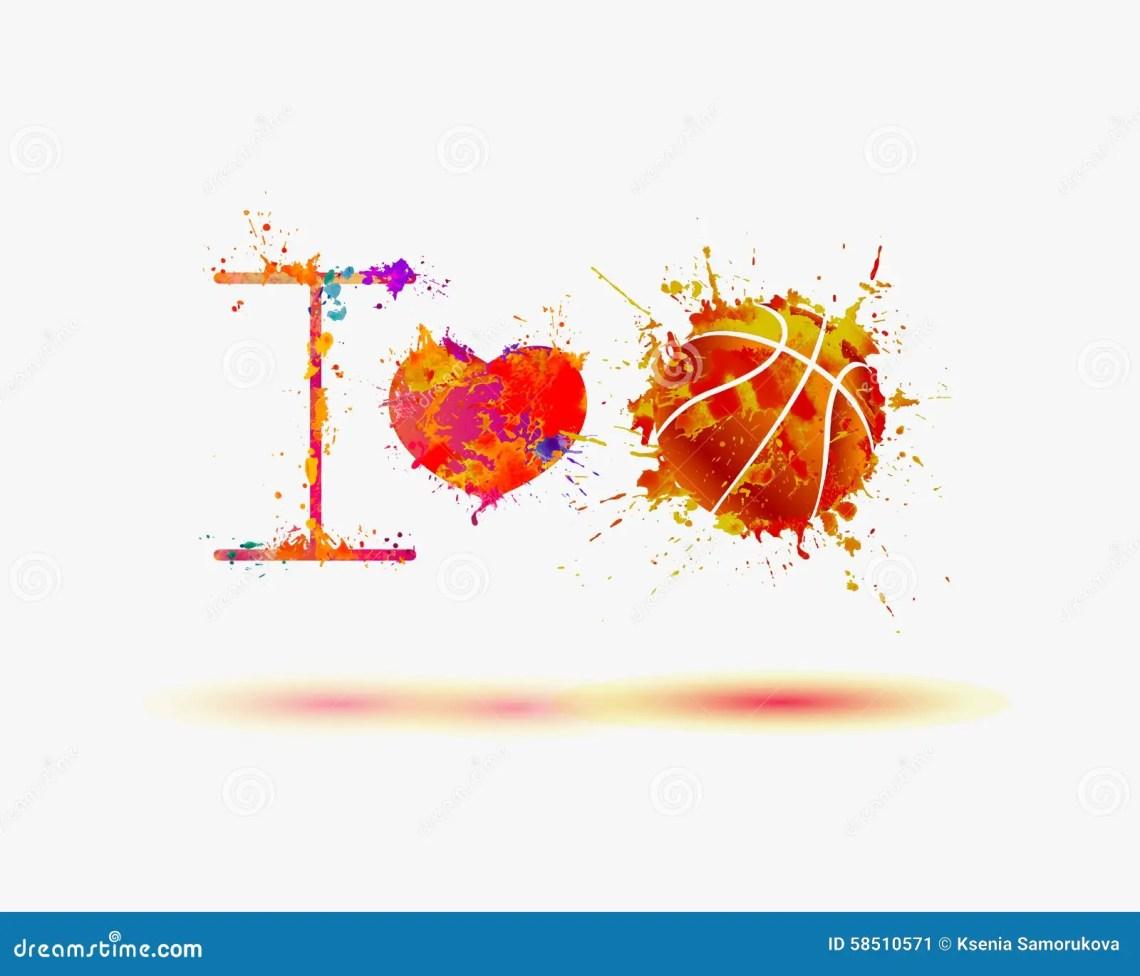 Download Fan Slogan: I Love Basketball Stock Vector - Illustration ...