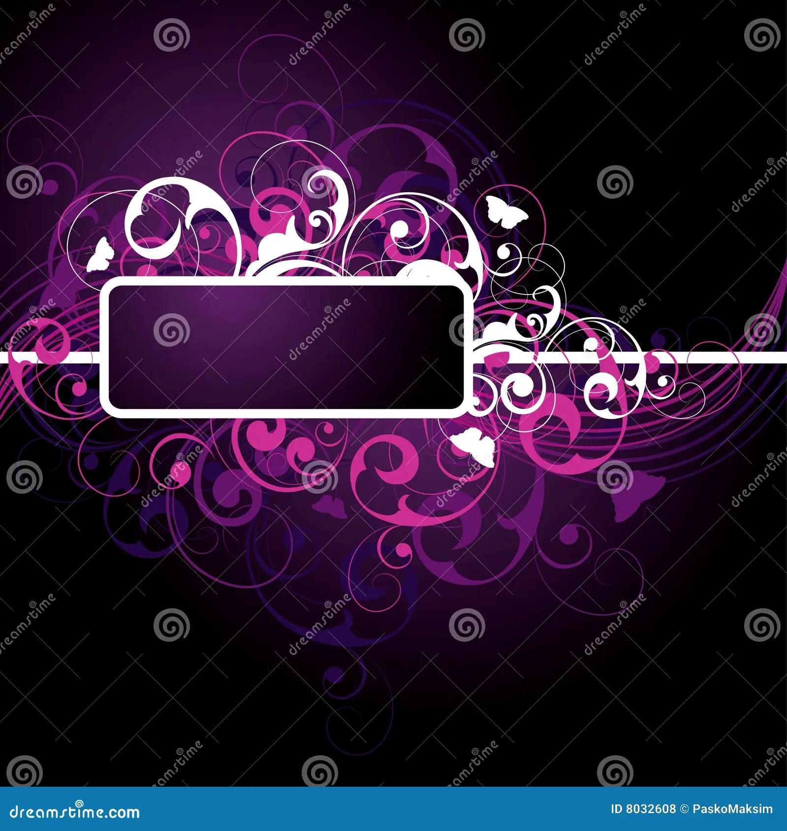Black Silver Wallpaper Designs Fancy Dark Purple Background Stock Vector Image 8032608