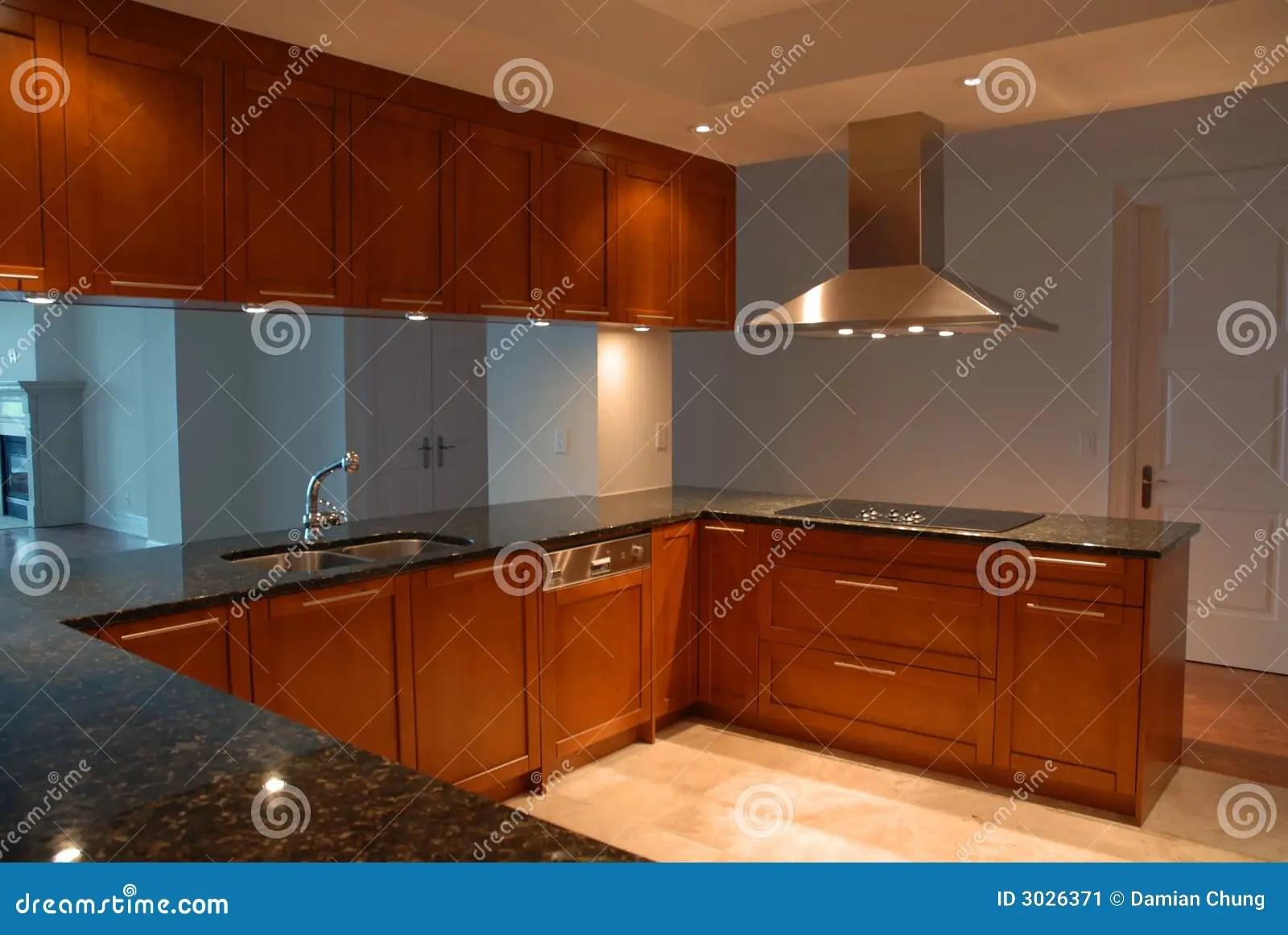 Fancy Kitchen stock image Image of mahogany kitchen