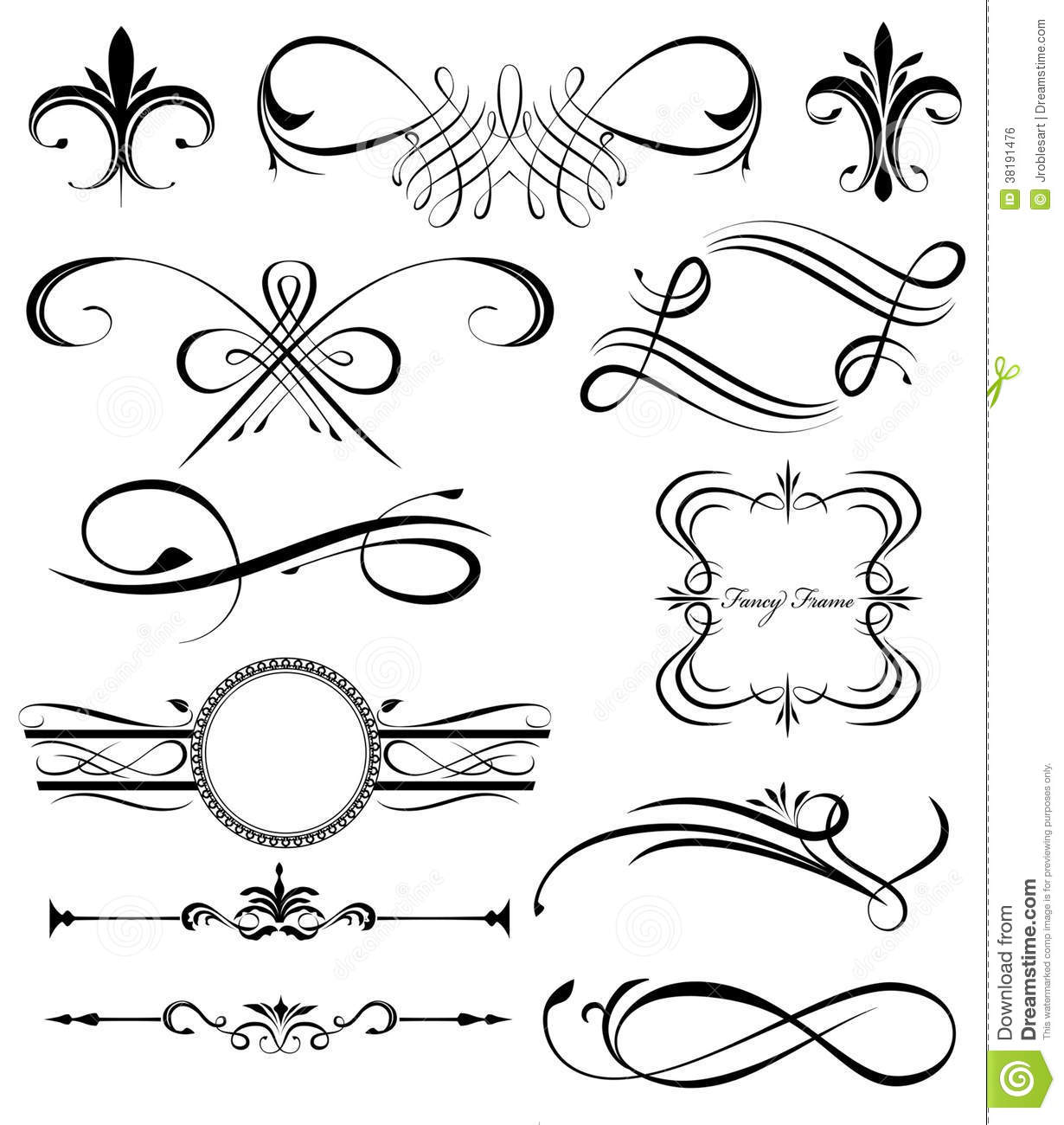 Fancy Lines 4 Royalty Free Stock Image