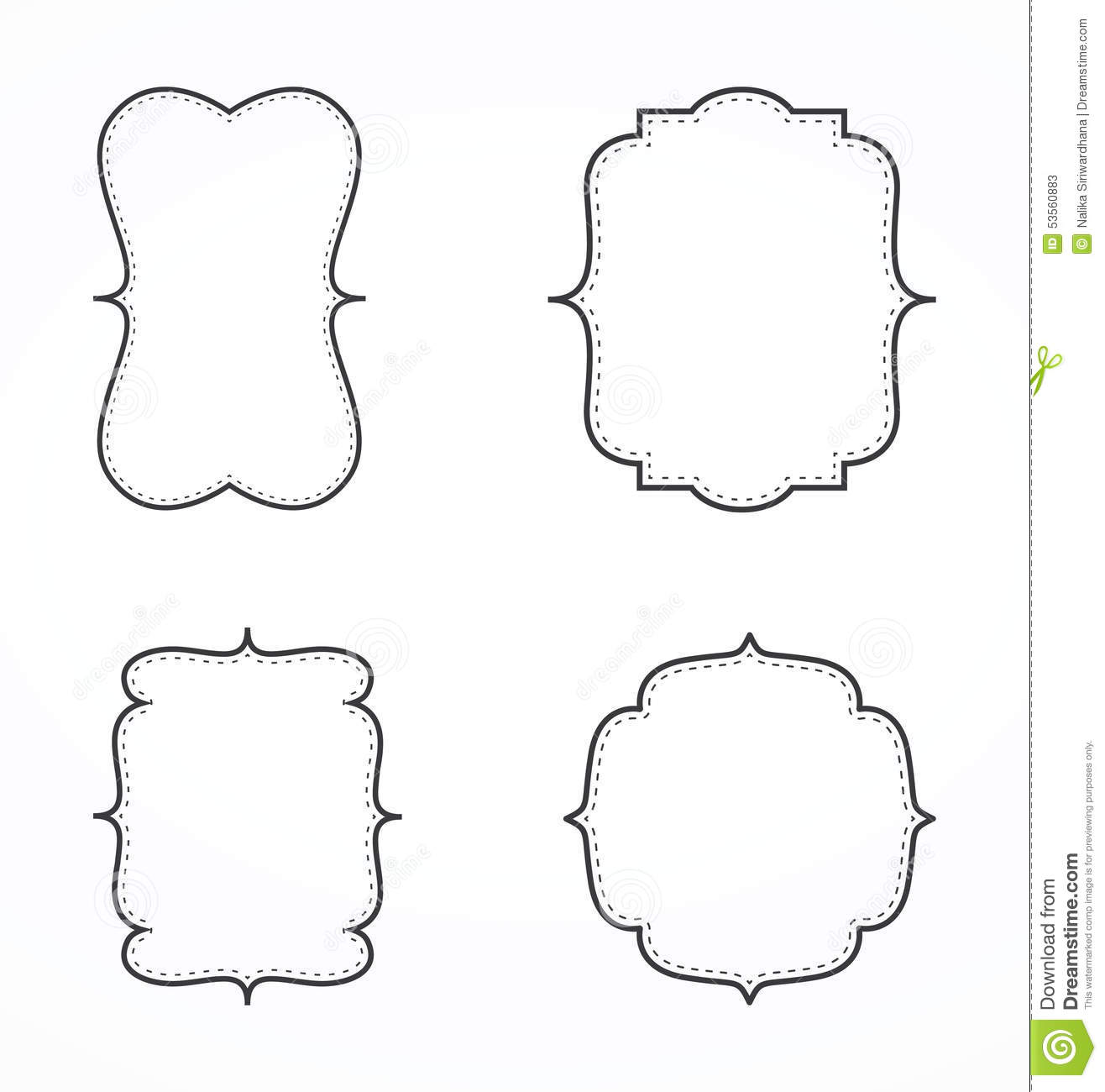 Fancy Page Border Stock Vector Illustration Of Blank