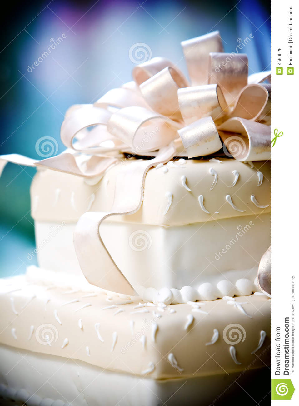 Fancy Wedding Cake With Cool Details Royalty Free Stock