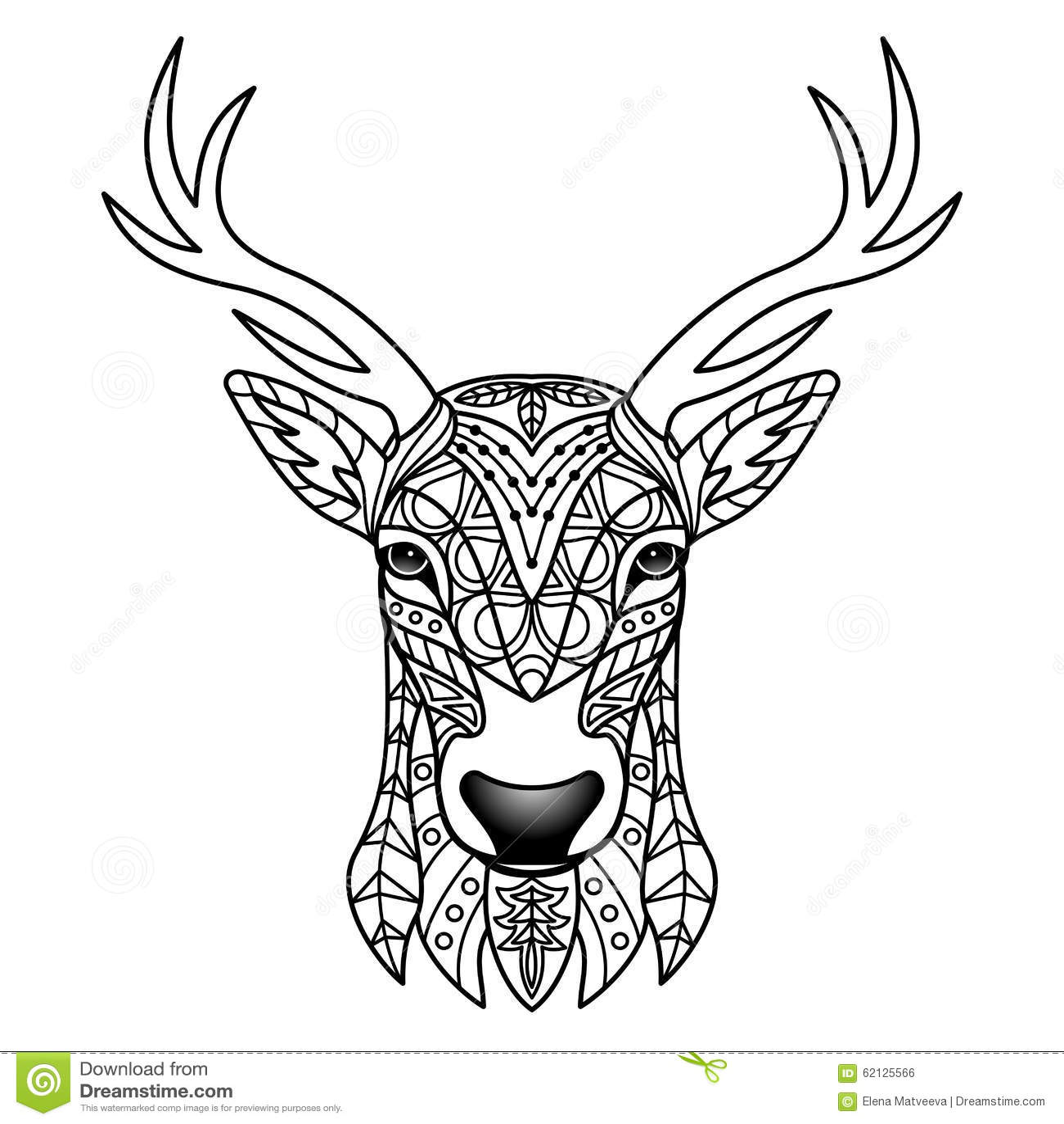 Fantasie Witte Herten Vector Illustratie Afbeelding