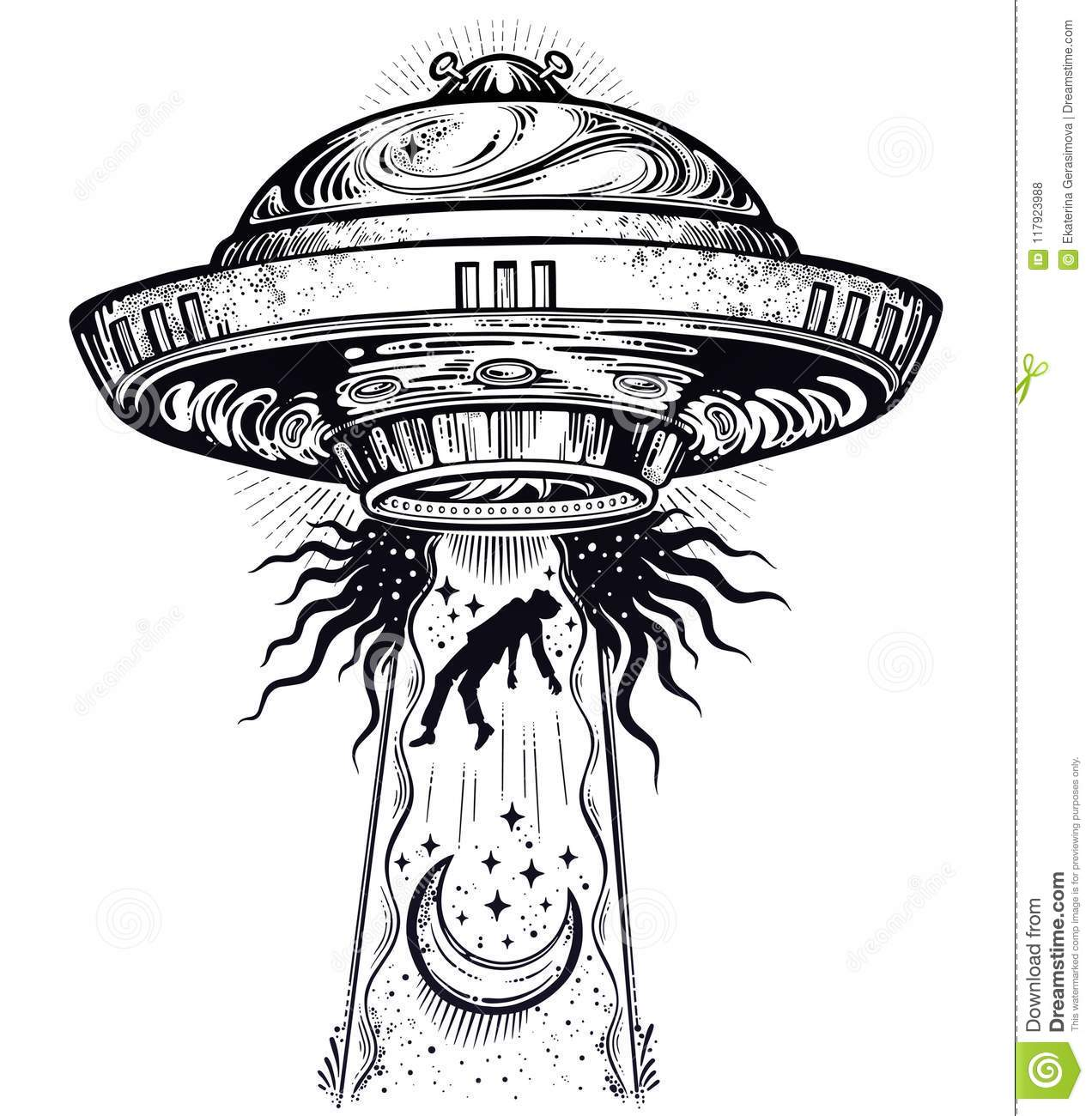 Ufo Abduction Stock Illustrations 1 546 Ufo Abduction